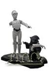 C-3PO und Jawa schwarz weiß