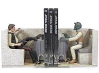 Han Solo und Greedo Buchstützen