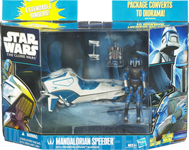 Mandalorian Speeder with Mandalorian