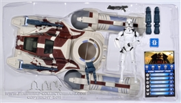 Y-Wing Scout Bomber with Clone Trooper Pilot TCW