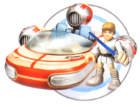 Landspeeder with Luke Skywalker - Jedi Force