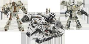Han Solo and Chewbacca / Millennium Falcon (combiner)