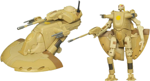 Battle Droid Commander to Armored Assault Tank