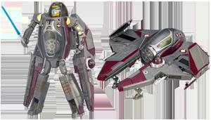 Obi-Wan Kenobi to Jedi Starfighter