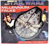 Star Wars Millennium Falke YT-1300: 3-D-Modell und Buch