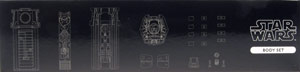 Body Set - Kotobukiya T-65 X-Wing 3D Cross Section Model Kit