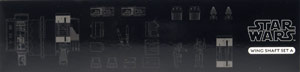 Wing Shaft Set A - Kotobukiya T-65 X-Wing 3D Cross Section Model Kit