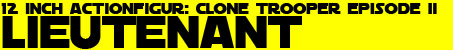 12 inch Sideshow Clone Trooper Leutnant