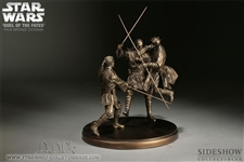 Duel of the Fates Faux- Bronze Diorama